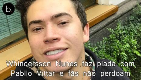Whindersson Nunes faz piada com o nome de Pabllo Vittar e fãs não perdoam