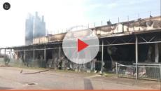 VIDEO: L'incendio della Roncadin a Meduno causa danni per 50 milioni