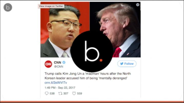 TRUMP VS JONG-UN : A war of words on Twitter