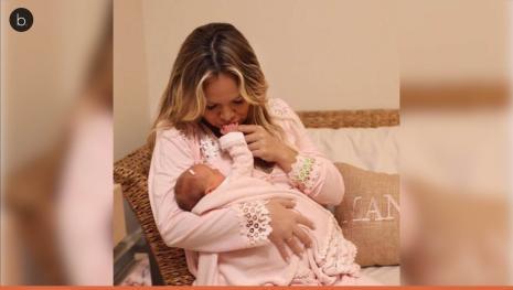 Com menos de 1 mês de vida, a filha de Eliana já tem novo desafio