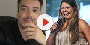 Climão? Marília Mendonça agarra Léo Dias, que brada: 'Não sou nada disso'