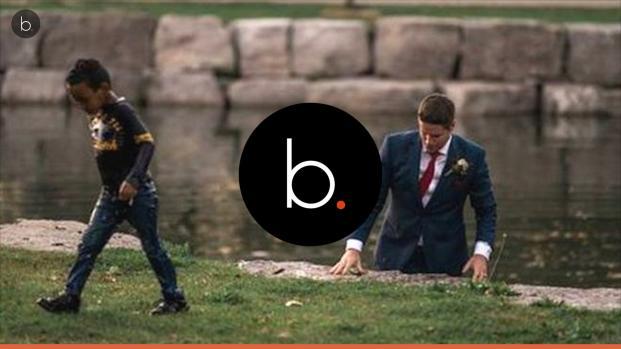 Criança se afoga e noivo, em sessão de fotos, o salva num grade ato de heroísmo