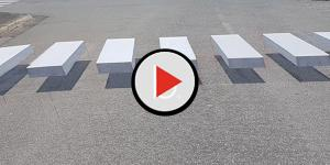 Assista: Faixas em 3 dimensões pode ser a solução para acidentes com pedestres