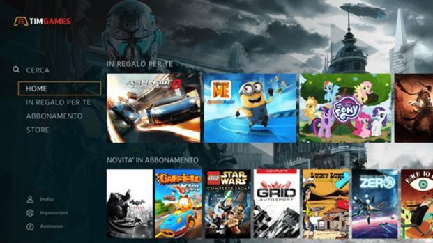 Alla Games Week debuttano i videogiochi in streaming di Tim
