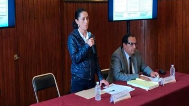 Claudia Sheinbaum, Jefa Delegacional en Tlalpan, denuncia a ex-funcionarios