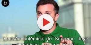 Decisão polêmica do Supremo deve beneficiar candidatura de Luciano Huck