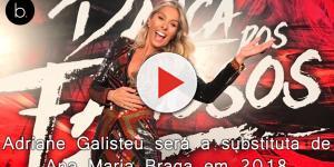 'Mais Você': Adriane Galisteu será a substituta de Ana Maria Braga em 2018