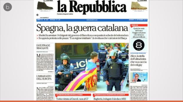 Protesta cívica en Cataluña por la represión de Rajoy
