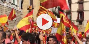 Miles de personas se manifiestan en Barcelona en contra de la independencia