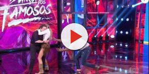 Adriane Galisteu derruba Faustão no chão do 'Domingão' após pulo; vídeo