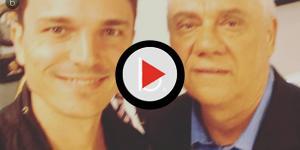 Foto ao lado do pai quando criança, de filho de Marcelo Rezende, emociona
