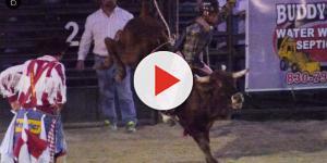 Peão cai e acaba sendo pisoteado na cabeça pelo touro
