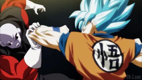 Goku se burla de la forma final de Jiren