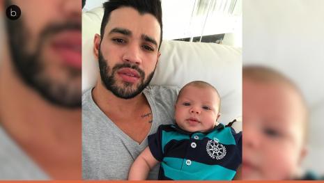 Assista: Gustavlo Lima e Andressa surpreendem ao expor intimidade e o filho