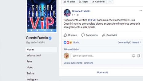 Grande Fratello Vip: decisione inattesa
