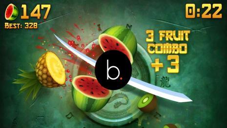 Ninja Fruit adapté en jeu de plateforme