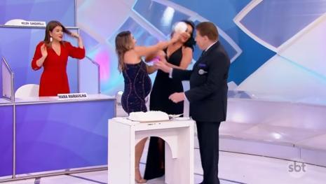 'Barraco' na TV com filha de Silvio Santos e Helen Ganzarolli; teve bolo na cara