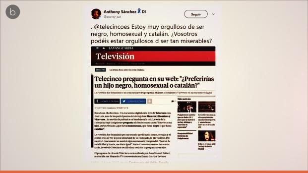 Telecinco publica contenido racista y homófobo en su web y las redes estallan