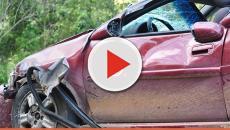 Assista: Carro com apresentadora da Record perde o freio e acidente acontece
