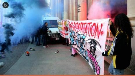 Milano, studenti devastano la città in nome dello Ius soli