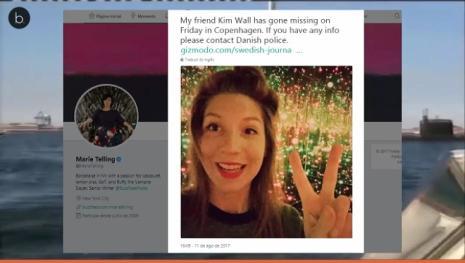Podrían haber hallado un brazo de la periodista Kim Wall