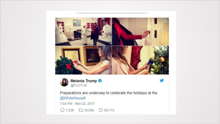 Melania Trump gets slammed on Twitter after posting holidays pictures