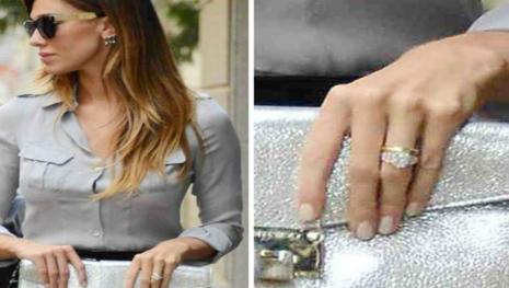 Belen indossa all'anulare l'anello di fidanzamento che le ha regalato Iannone
