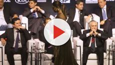 Assista: Temer é surpreendido por Moro e 'atacado' por atriz
