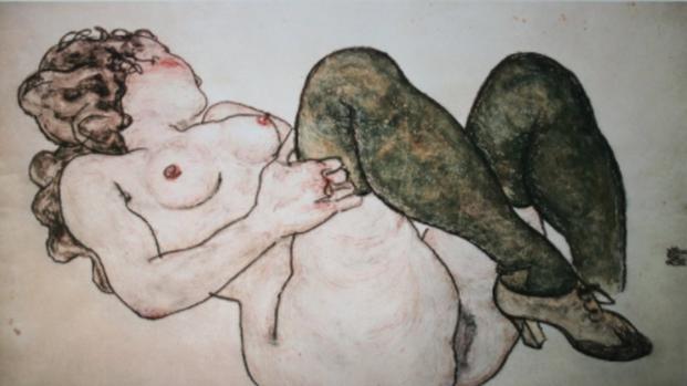 Egon Schiele e la sua scandalosa arte non permessa a Londra