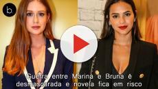 Guerra entre Marina e Bruna é desmascarada e novela fica em risco