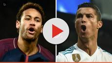 Vídeo: Cristiano Ronaldo é desmascarado por Neymar