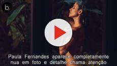Paula Fernandes aparece completamente nua em foto e detalhe chama atenção