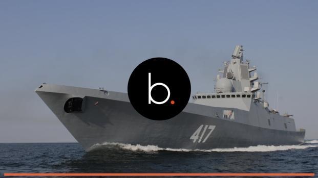 Video: fragata britânica escolta navio russo para longe do Reino Unido