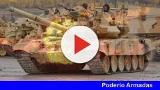 Las tropas del ejército Español desplegada en la frontera de Rusia con Letonia