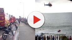 Vídeo: Globocop cai na praia e uma terrível tragédia acontece