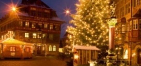 Un mercatino natalizio in Svizzera