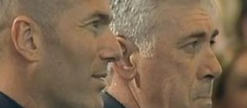 Carlo Ancelotti con Zidane
