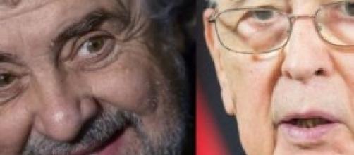 Beppe Grillo sfida Giorgio Napolitano