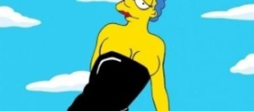 Marge Simpsons, scandalo a luci rosse