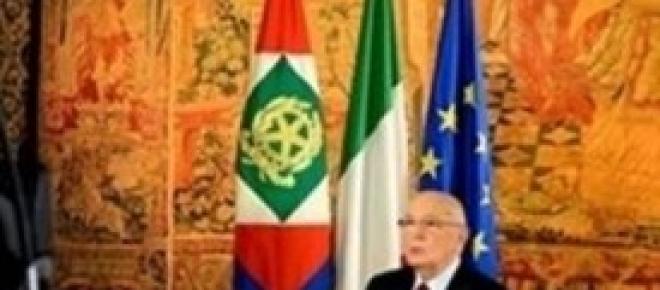 Giorgio Napolitano, discorso fine anno 2013 trasmesso su Rai1. Foto dal sito del Quirinale