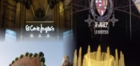 El Cortes ingles, La boqueria, Casa Batllo
