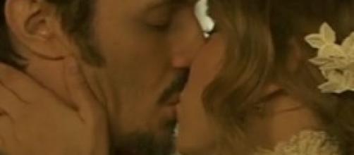Alfonso e Emilia, il bacio del matrimonio