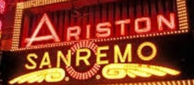L'ingresso al teatro Ariston