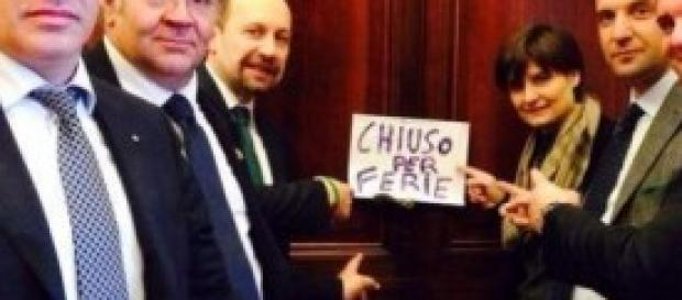 Senatori leghisti occupano ufficio di Grasso