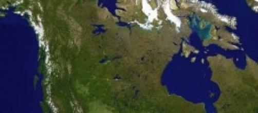 Visione satellitare del Canada