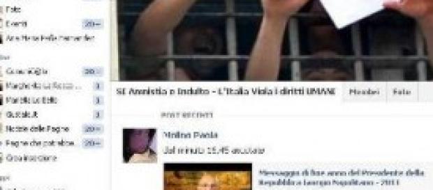 Amnistia e indulto, dibattito su facebook