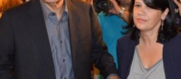 Pierluigi Bersani e la deputata Pd Maria Iacono