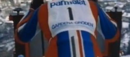 Gustavo Thoni con il numero 1