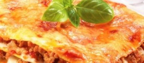 Lasagne alla bolognesa, un plato italiano.