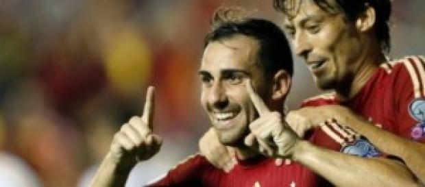 Autor del único gol de la selección, Paco Alcácer